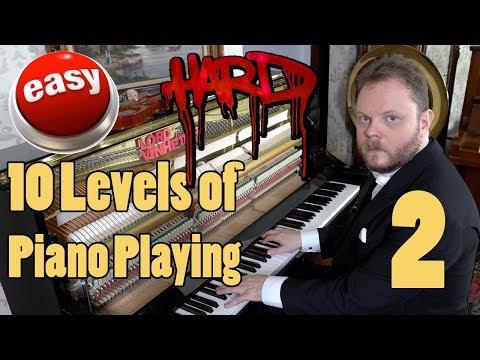 10 Levels of Piano Playing 2 Vídeos de zueiras e brincadeiras: zuera, video clips, brincadeiras, pegadinhas, lançamentos, vídeos, sustos