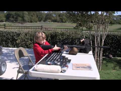 Gamo Whisper Air Rifle, 8 year old in back yard