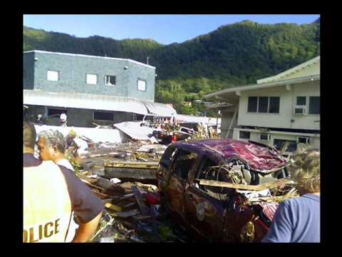 Tsunami Aftermath Pictures American Samoa Video