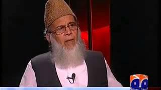 Munawar Hassan Angry at Iftikhar Hussain - UNewsTv.com
