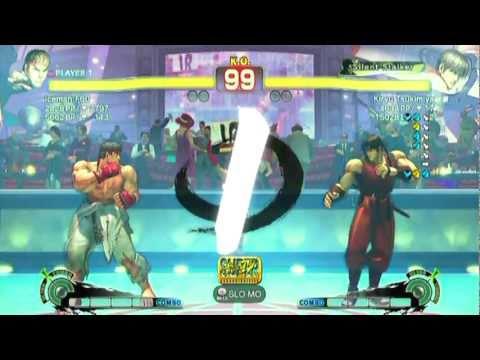 Ryu(iceman F60) VS Guy(Kiryu Tsukimiya)