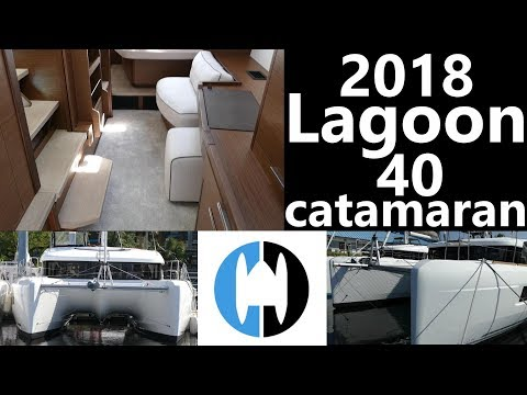 Walkthrough of the 2018 Lagoon 40 catamaran