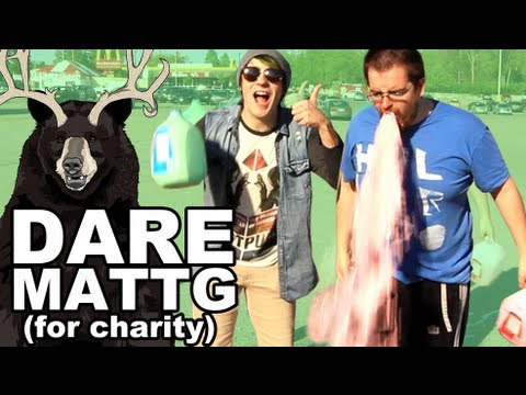 Dare MattG 64 feat thetrevistabomb (THE MILK CHALLENGE, Shaving my chest, Chubby Bunny)