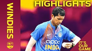 Saini Shines On Debut | Windies vs India - Match Highlights | 1st IT20 2019