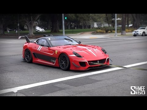 Ferrari 599XX EVO - Startup on the Road in Los Angeles