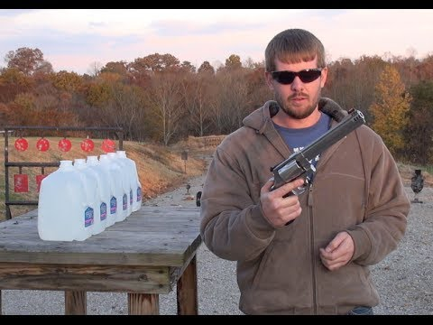 500 MAGNUM = DEEP PENETRATION   (Water Jug test)