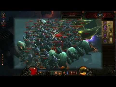 Diablo 3 barbarian & WD. Bridge of Korsikk 72 kills MASSACRE!!!