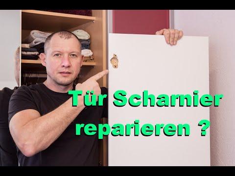 Tür Scharnier Reparieren.Topfbandreparatur