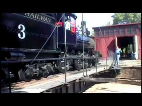 Steam in the Sierra Nevada foothills - Railtown 1897 State Historic Park