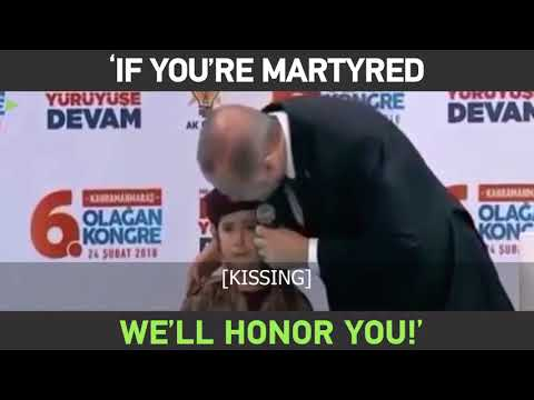 'If you're martyred, we'll honor you!' – Erdogan & sobbing girl having awkward moment