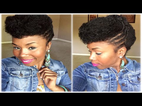 Sleek & Soft Retro Pin-Up Natural Hair Style