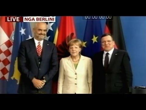 A1 Report - (Video e plotë) Berlin , Rama: BE një frymëzim Merkel: Integrimi do varet nga ju
