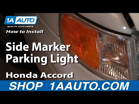 How To Install Replace Side Marker Parking Light Honda Accord 94-97 1AAuto.com