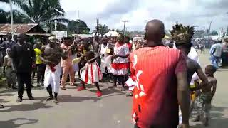 Kwale is in Biafrans history This  is  Ikenge festival from Utagba uno kwale in Delta State Biafra L