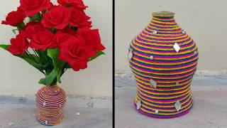 BEST OUT OF WASTE PLASTIC BOTTLE CRAFT \ BEAUTIFUL FLOWERS POT CRAFT MAKING WITH PLASTIC BOTTLE ||
