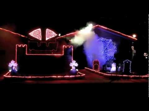 "2011 Halloween Light Show: ""Go To Hell"""