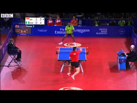 Glasgow 2014: Incredible table tennis rally at Commonwealth Games