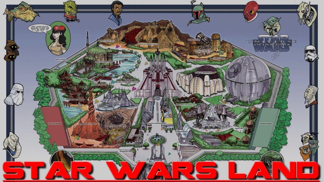 Star Wars Disney World Ride 'star Wars Land' in Disney