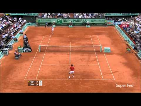 Federer Djokovic French Open 2011HD Highlight