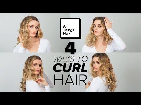 4 Easy Ways to Curl Hair | Tutorial