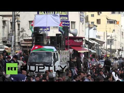 Jordan: Mass protest in Amman against Kerry's peace plan