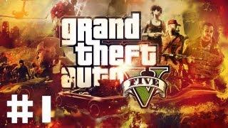 [PS3] Zagrajmy w GTA V #1 - Napad na Bank :O !