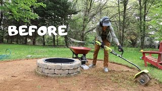 How to Make a Fire Pit Seating Area: Backyard Makeover - Thrift Diving