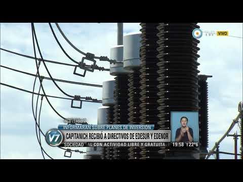 Visión 7 - Capitanich recibió a directivos de Edesur y Edenor