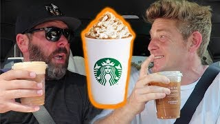 TRYING STARBUCKS PUMPKIN SPICE W/ BERT KREISCHER!!