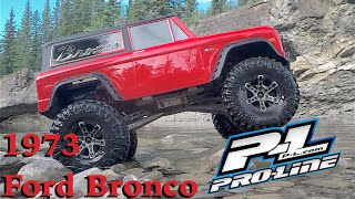 RC CWR Pro-Line 1973 Ford Bronco boby on a SCX-10
