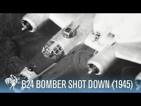 B24 Bomber Shot Down - Incredible Footage