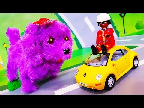 Мультики про машинки. Видео про игрушки - собачку и желтую машинку. Мультфильмы для детей