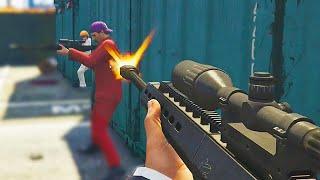 Call Of Duty In GTA! Quickscope Battle (GTA 5 Funny Moments)