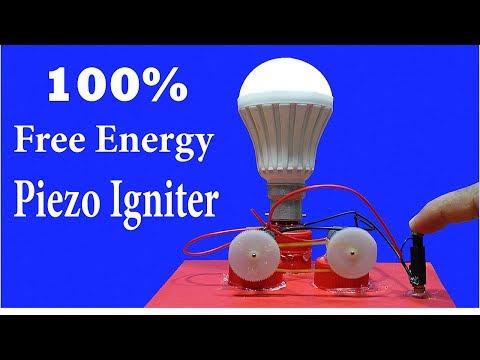 Infinity Free Energy Led Light Bulbs - Using Piezo Igniter thumbnail