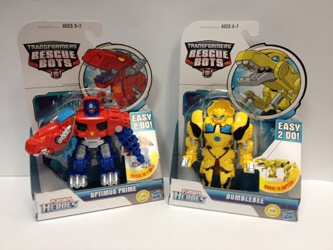 Transformers Rescue Bots - Dinobot OPTIMUS PRIME and BUMBLEBEE