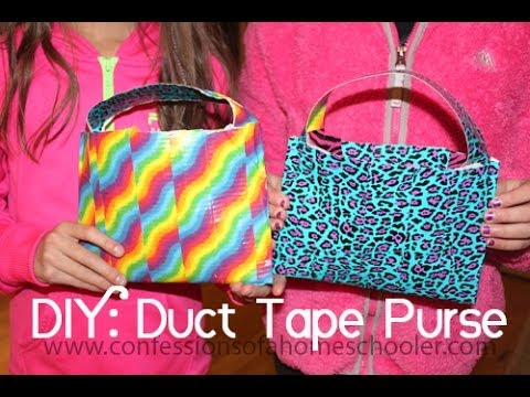 Diy Duct Tape Purse Tutorial Youtube