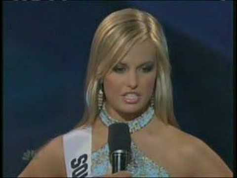 Miss Teen USA 2007 - South Carolina answers a question Video