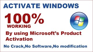 Activate Windows 7,8,10 final solution and fix in Hindi with eng doc- without any software and crack
