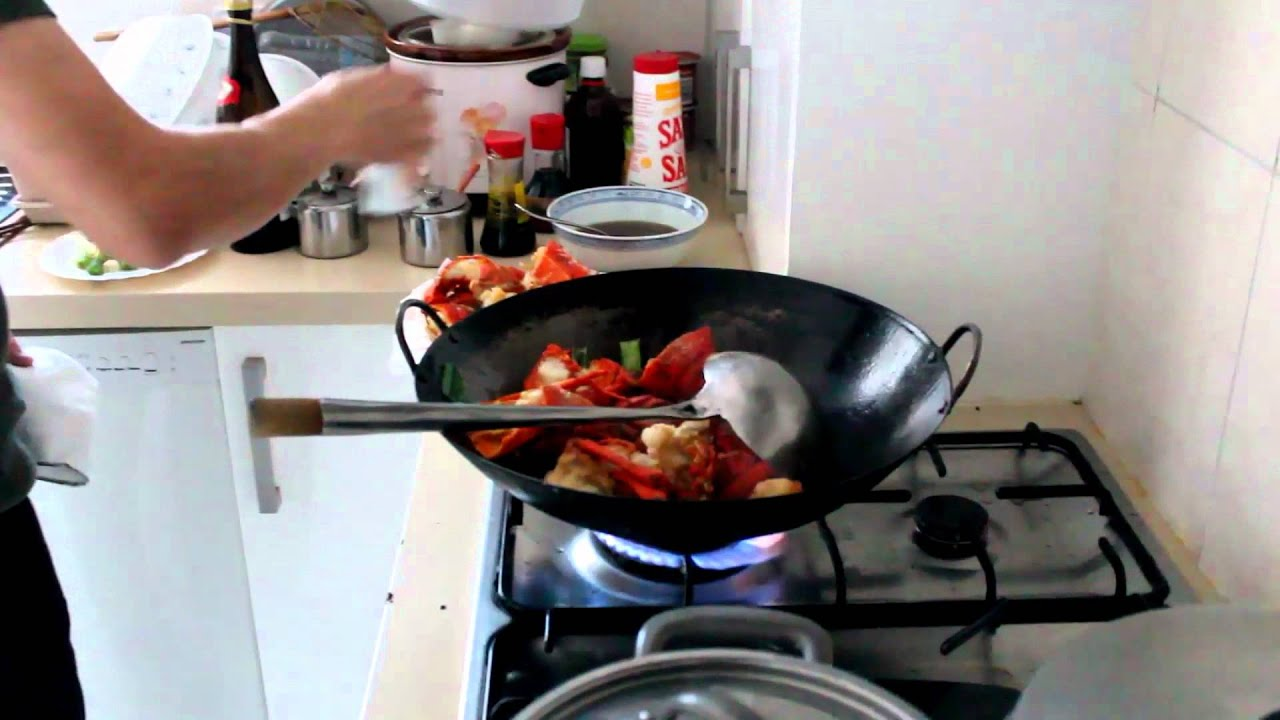 Lobster Chinese Style Cooking - YouTube