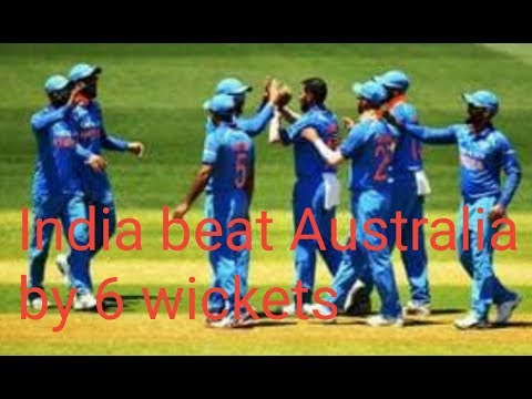 India won by 6 wickets | #AusvsInd | #IndvsAus | #Dhoni | India win  | Adelaide | 2nd ODI  |