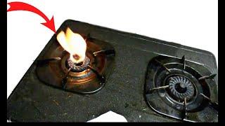 Mẹo sửa chữa bếp ga bị lửa đỏ ,lửa bập bùng,đơn giản