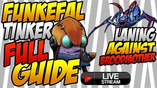 Funkefal Tinker Full Gameplay Guide With Voice + Cam.How To Lane Against a Counter Pick Broodmother.