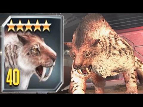 SMILODON LVL 40 - New CENOZOIC CREATURE - Jurassic World The Game