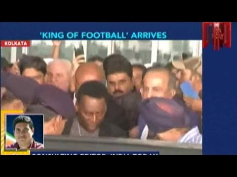 Brazilian Football Legend Pele In Kolkata For 3 Days