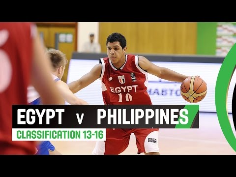 Egypt v Philippines - Classification 13-16 Full Game - 2014 FIBA U17 World Championship