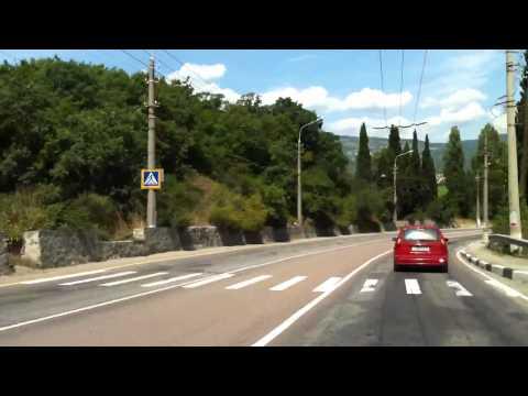 Дорога между Алуштой и Ялтой