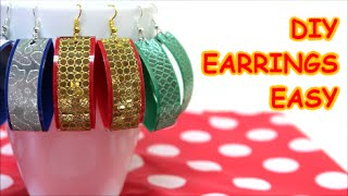 DIY Earrings Jewelry Ideas: Easy Made from Plastic Bottle and Tape Recycled Bottles Crafts