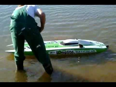 RC Twin Turbine Mystic C5000 Powerboat - Miss Longlite - Brutal Fast!