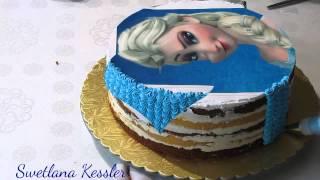 """Оформление торта """"Эльза"""""""