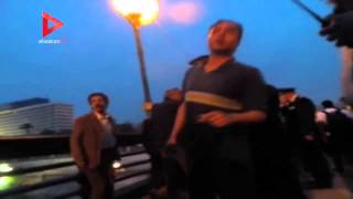 الشرطة تفض وقفة ضد اتفاقية سد النهضة على كوبري قصر النيل
